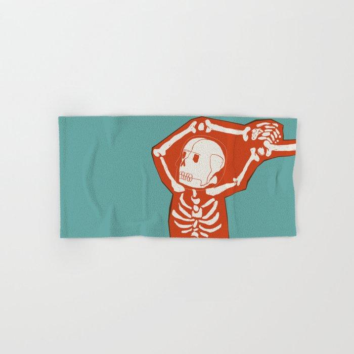 Overlay Skeleton Hand & Bath Towel