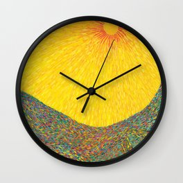 Here Comes the Sun - Van Gogh impressionist abstract Wall Clock