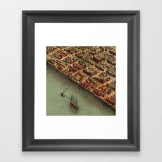 Vintage Panoramic Map Eureka Framed Art Print