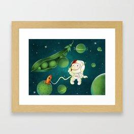 Green Peas Galaxy Framed Art Print