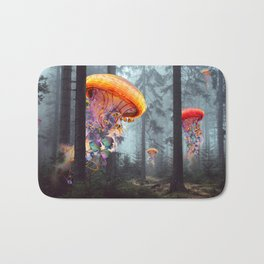ElectricJellyfish Worlds in a Forest Bath Mat