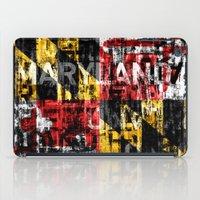 maryland iPad Cases featuring Maryland Flag Print by david zobel