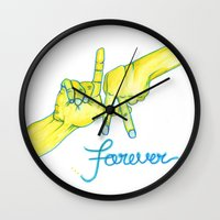 lakers Wall Clocks featuring Lakers Forever by NBA Textile