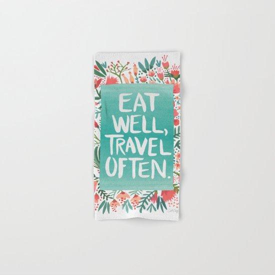Eat Well, Travel Often Bouquet  Hand & Bath Towel