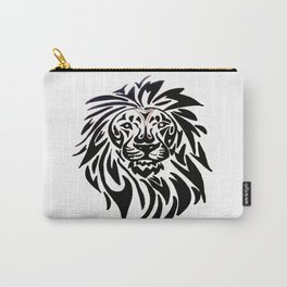 Lion face black and white Carry-All Pouch