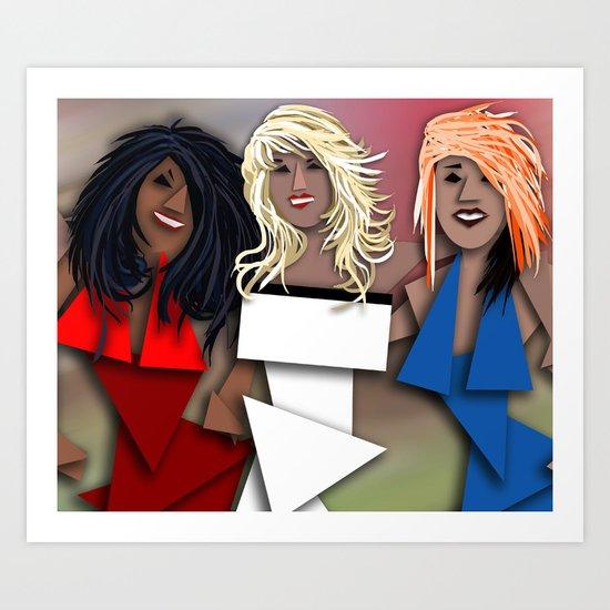 Cubist OMG Art Print