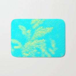 nature -yallow turquoise Bath Mat
