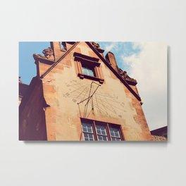 Sundial Clock of Heidelberg Castle Metal Print