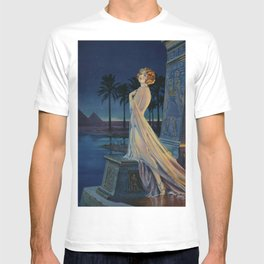 Melody of Ancient Egypt Art Deco romantic female figure by the River Nile painting by Henry Clive T-shirt
