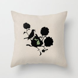 Michigan - State Papercut Print Throw Pillow