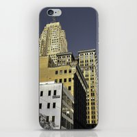 buildings iPhone & iPod Skins featuring BUILDINGS by detroit vibes