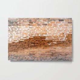 Brick Texture Metal Print