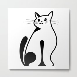 Simply cat Metal Print
