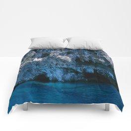 NATURE'S WONDER #4 - BLUE GROTTO #art #society6 Comforters