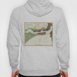 Vintage Mare Island Strait and Vallejo Map (1857) Hoody