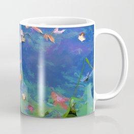 Fall leaves on river 1 Coffee Mug