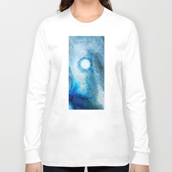 Abstract Landscape Art - Blue Moon - By Sharon Cummings  Long Sleeve T-shirt