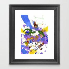 New Record Framed Art Print