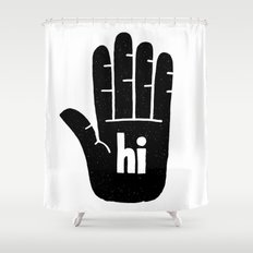 hi five Shower Curtain