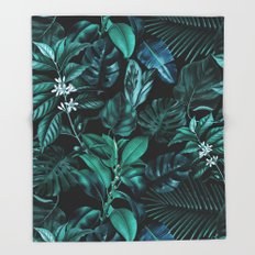 Tropical Garden Throw Blanket