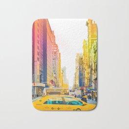 Colors of New York City Downtown Manhattan Bath Mat