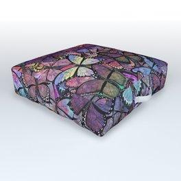 butterfly fantasia Outdoor Floor Cushion