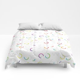 Funny color design. Arcs and Lines #3 Comforters