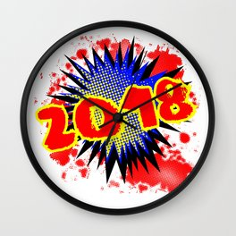 2018 Comic Exclamation Wall Clock