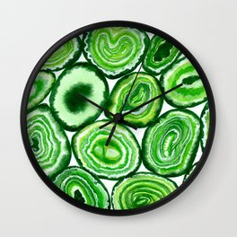 Green agate pattern Wall Clock