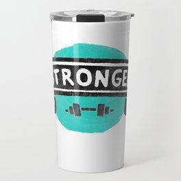 Stronger Every Day (dumbbell) Travel Mug
