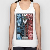 n7 Tank Tops featuring N7: The Male Squad by Alex Rodway Illustration