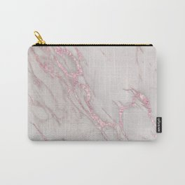 Marble Love Rose Gold Pink Metallic Carry-All Pouch