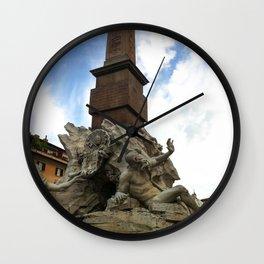 Fontana de Quattro Fumi, Rome Wall Clock
