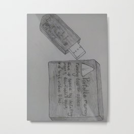 Portable Device Metal Print