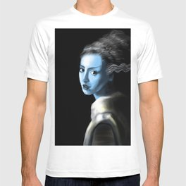 Girl With Lightning Trace Streaks On The Side Of Her Head T-shirt