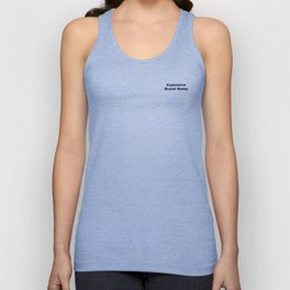 Expensive brand name T-shirt Unisex Tank Top