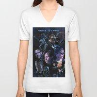 saga V-neck T-shirts featuring Terminator Saga by Saint Genesis