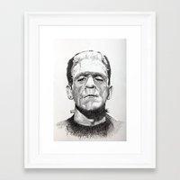 frankenstein Framed Art Prints featuring Frankenstein by calibos