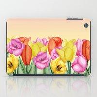 tulips iPad Cases featuring Tulips by Julia Badeeva
