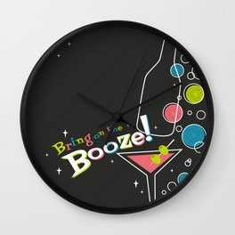Bring on the Booze! Wall Clock