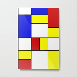 Mondrian #756 Metal Print