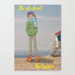 It's All About the Layers Canvas Print