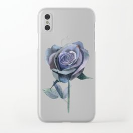 Twilight Rose Clear iPhone Case