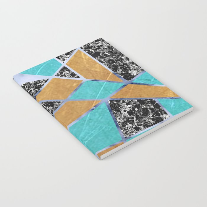 Abstract #444 Marble & Jade Notebook