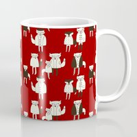 foxes Mugs featuring foxes.... by mummysam