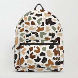 Gold Terrazzo Pattern Backpack