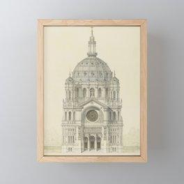 Church of St. Augustine Paris Framed Mini Art Print