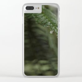 A Single Drop of Dew Clear iPhone Case
