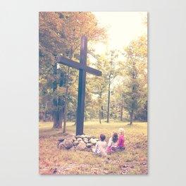 Worship At The Cross Canvas Print