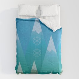 Winter in the Mountains Comforters